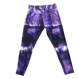 Champion C9 Pixilated Purple Tie Dye Leggings XL